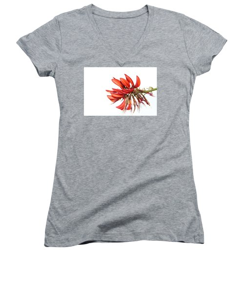 Women's V-Neck T-Shirt featuring the photograph Orange Clover IIi by Stephen Mitchell