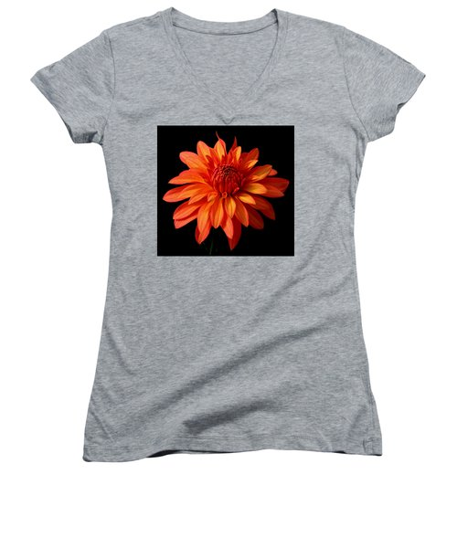 Orange Flame Women's V-Neck