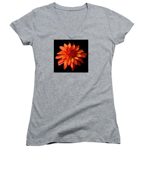 Orange Flame Women's V-Neck