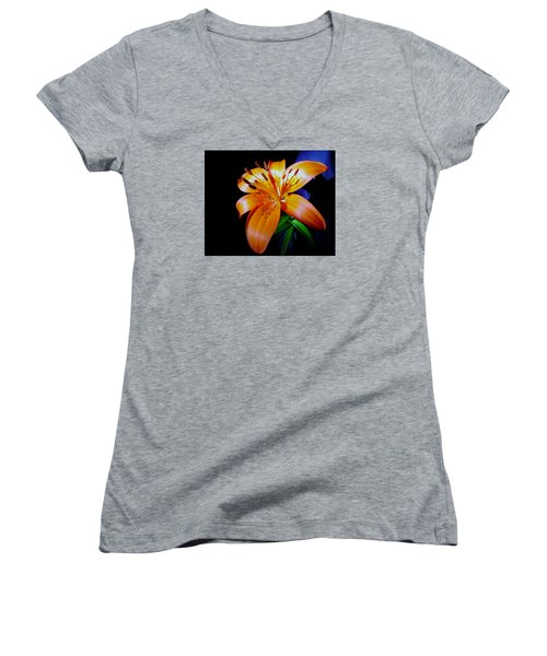 orange Glow Women's V-Neck