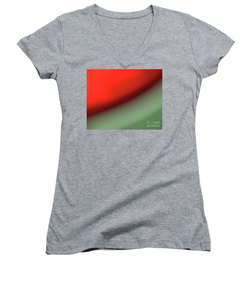 Orange Red Green Women's V-Neck T-Shirt