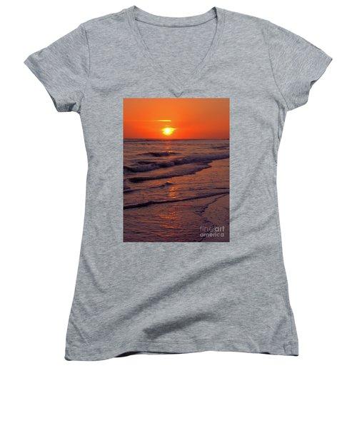 Orange Sunset Women's V-Neck