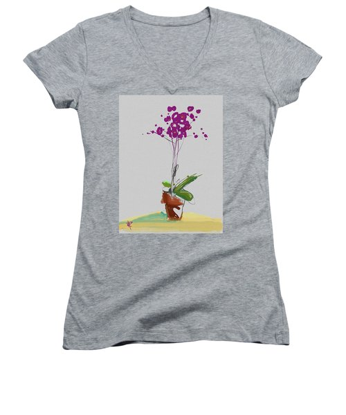 Orchid Women's V-Neck T-Shirt