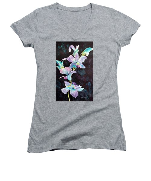 Orchids Alive Women's V-Neck (Athletic Fit)