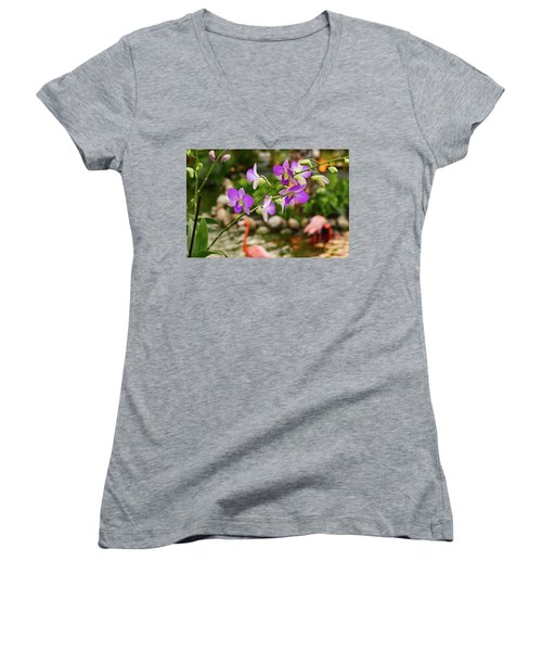 Orchids In Paradise Women's V-Neck