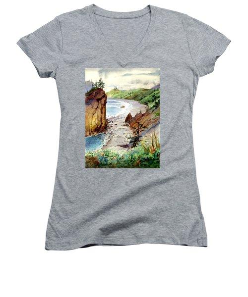 Oregon Coast #3 Women's V-Neck T-Shirt