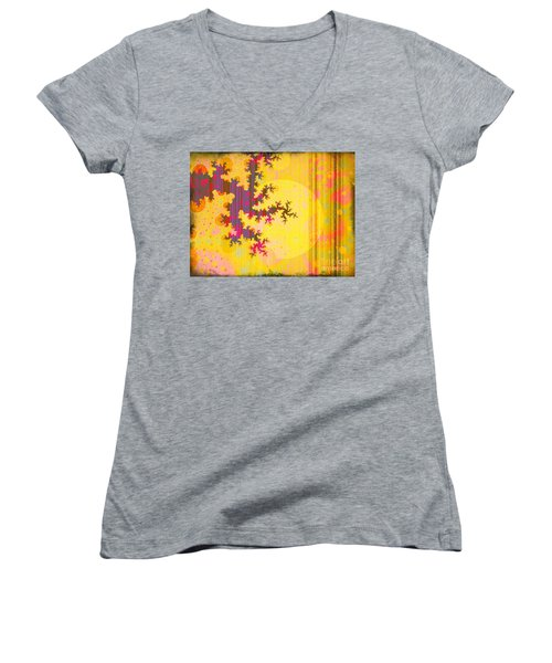 Oriental Moon Behind My Courtain Women's V-Neck T-Shirt (Junior Cut) by Silvia Ganora