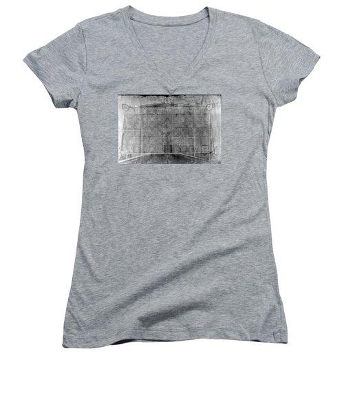 Original French Quarter Map Women's V-Neck T-Shirt