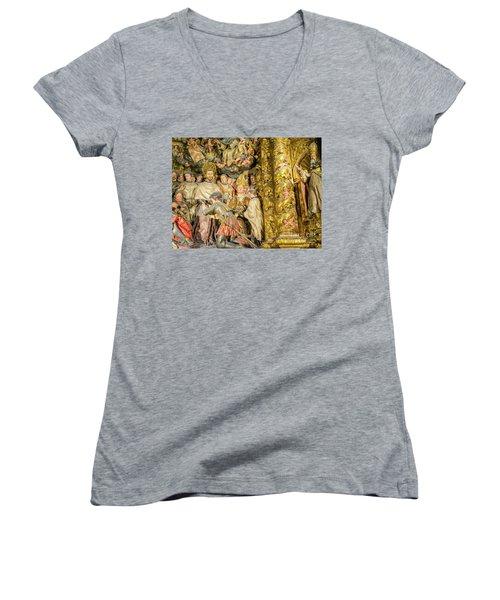 Ornate Gold Guilded Altar Women's V-Neck T-Shirt