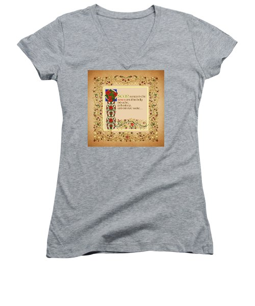 Oscar Alternative Ending Women's V-Neck T-Shirt (Junior Cut) by Donna Huntriss