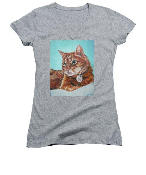 Oscar Women's V-Neck T-Shirt (Junior Cut) by Bryan Bustard