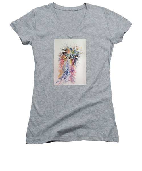 Ostrich Women's V-Neck T-Shirt (Junior Cut)