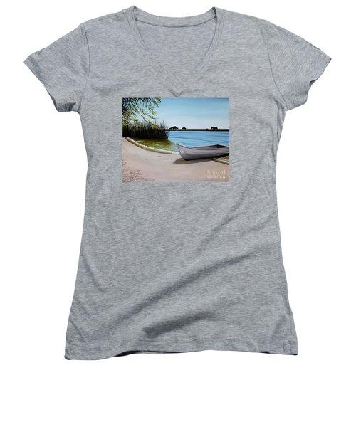 Our Beach Women's V-Neck T-Shirt