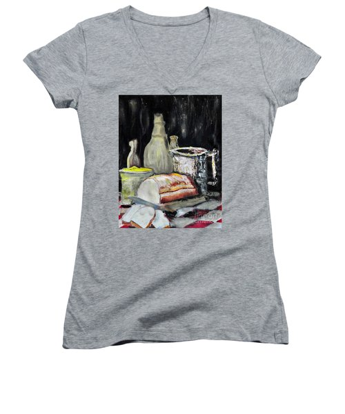 Our Daily Bread Women's V-Neck T-Shirt