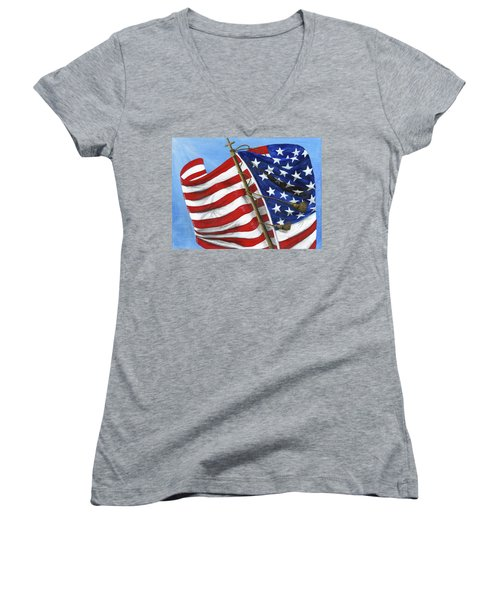 Our Founding Principles Women's V-Neck (Athletic Fit)