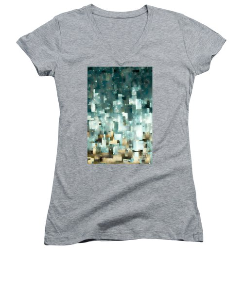 Our Inheritance In Christ. Ephesians 1 14 Women's V-Neck T-Shirt (Junior Cut) by Mark Lawrence