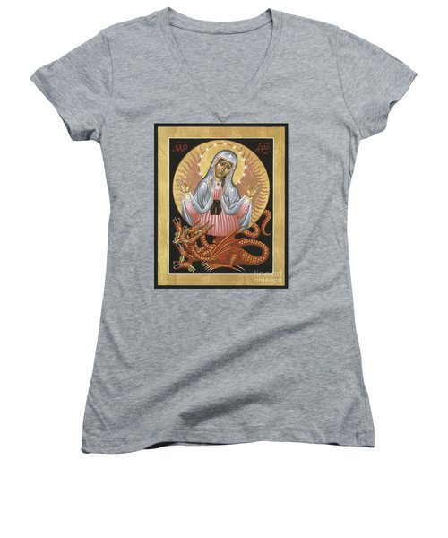 Our Lady Of The Apocalypse 011 Women's V-Neck