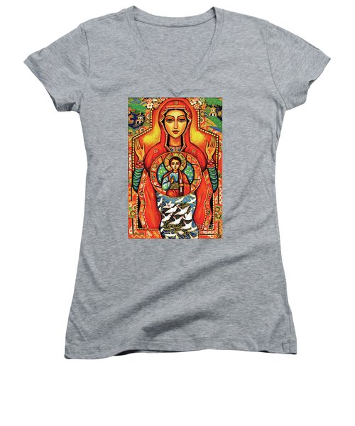 Our Lady Of The Sign Women's V-Neck