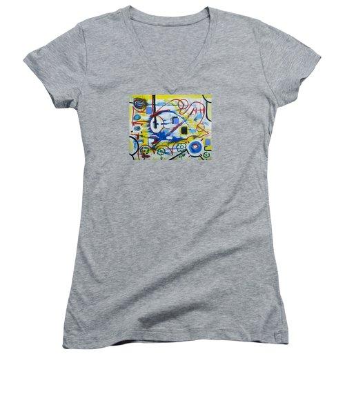 Our World Women's V-Neck T-Shirt (Junior Cut) by Jose Rojas