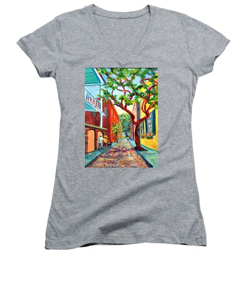 Out And About Women's V-Neck T-Shirt (Junior Cut) by Dorothy Allston Rogers
