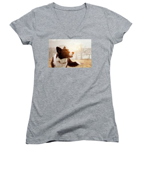 Out And About Women's V-Neck T-Shirt