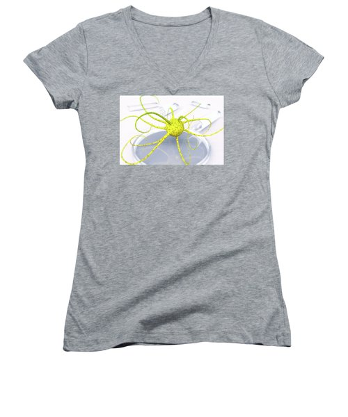 Out Of The Petri Dish... Women's V-Neck T-Shirt (Junior Cut)