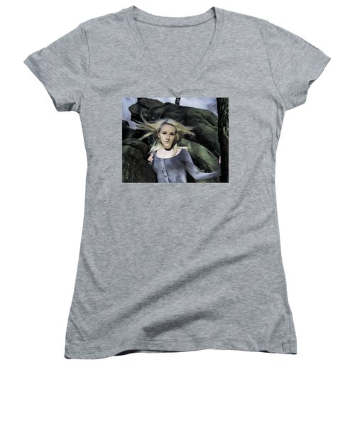 Out Of The Shadows Women's V-Neck T-Shirt