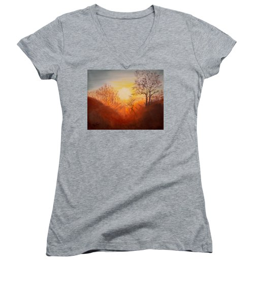 Out Of The Winter Morning Mists - 2 Women's V-Neck (Athletic Fit)