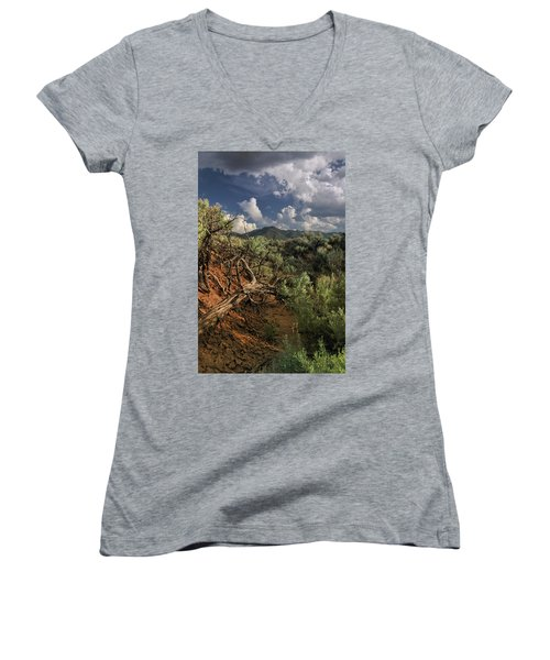 Out On The Mesa 2 Women's V-Neck