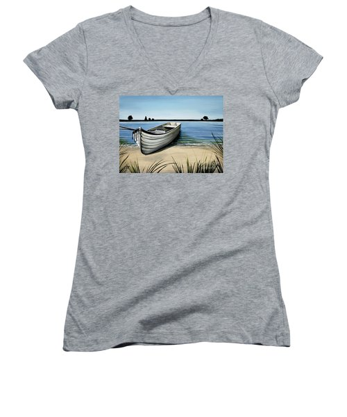 Out On The Water Women's V-Neck (Athletic Fit)