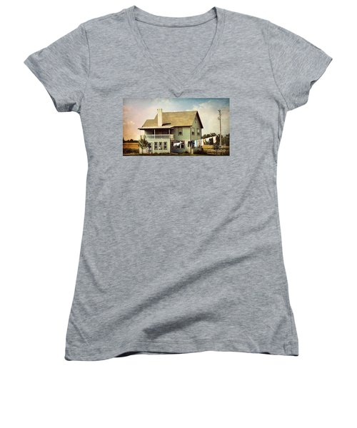 Out To Dry Women's V-Neck T-Shirt