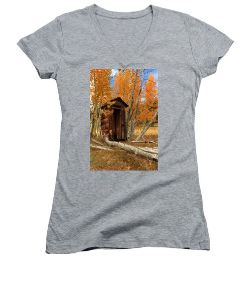 Outhouse In The Aspens Women's V-Neck