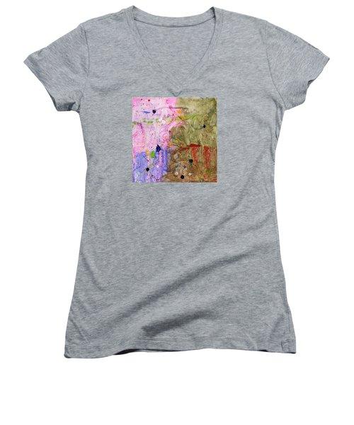 Outpost Women's V-Neck T-Shirt (Junior Cut) by Phil Strang