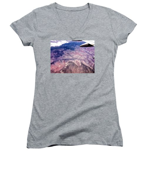 Over The Canyon Women's V-Neck T-Shirt