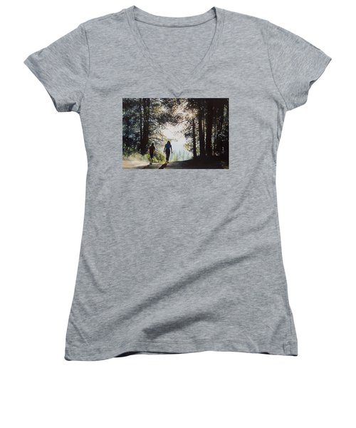 Over The Hills Women's V-Neck