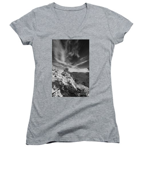Over The Hills Women's V-Neck T-Shirt