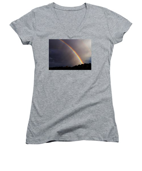 Over The Rainbow Women's V-Neck T-Shirt (Junior Cut) by Joseph Frank Baraba
