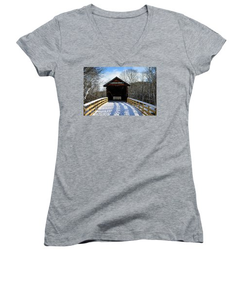 Over The River And Through The Bridge Women's V-Neck