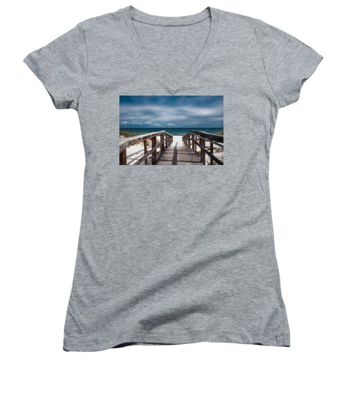 Over The Sand Women's V-Neck