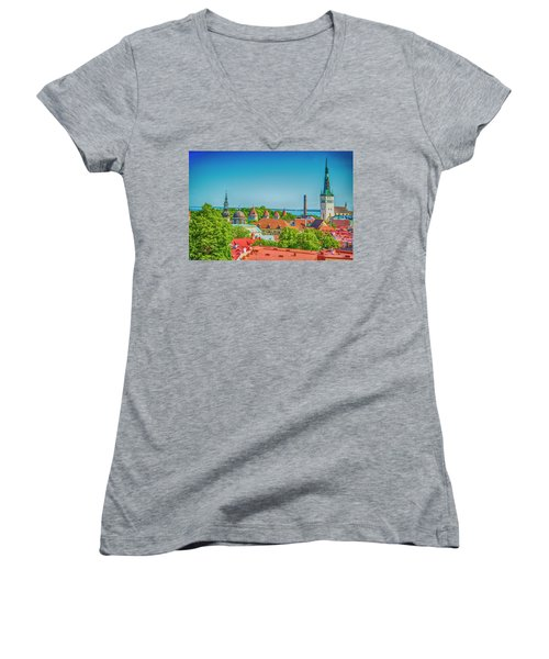 Overlooking Tallinn Women's V-Neck