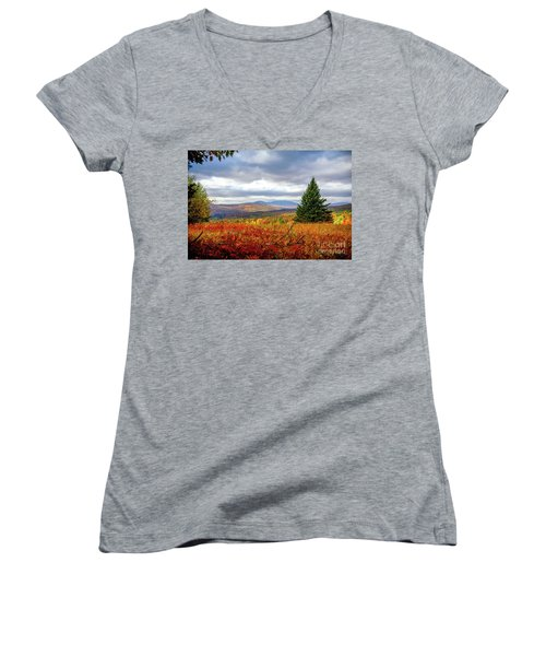 Overlooking The Foothills Women's V-Neck (Athletic Fit)