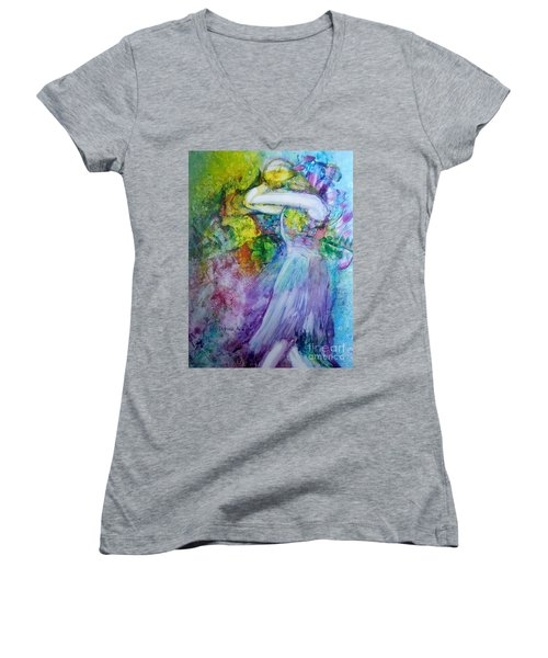 Overwhelming Love Women's V-Neck (Athletic Fit)