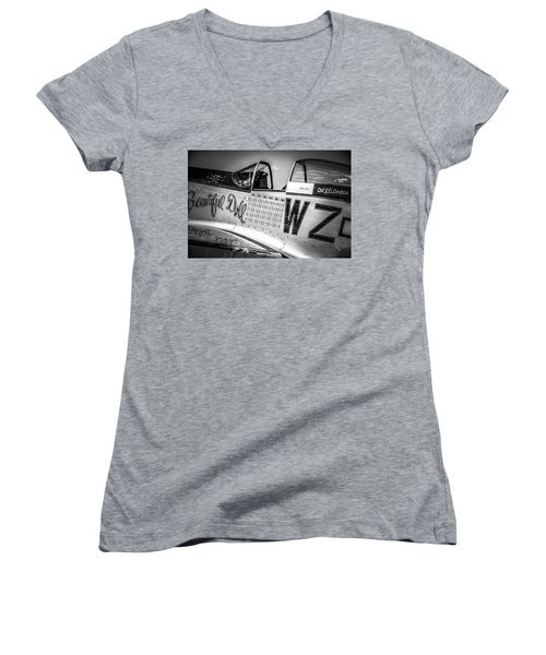 P-51 Mustang - Series 1 Women's V-Neck (Athletic Fit)