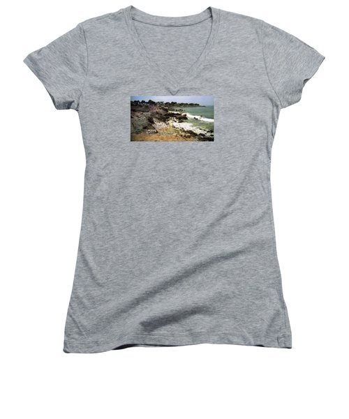 Pacific California Coast Beach Women's V-Neck T-Shirt