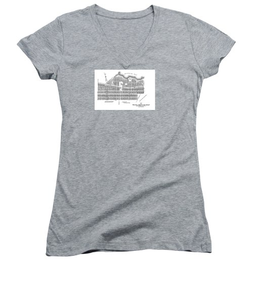 Pacific Grove May 7 1887 Women's V-Neck T-Shirt (Junior Cut) by California Views Mr Pat Hathaway Archives