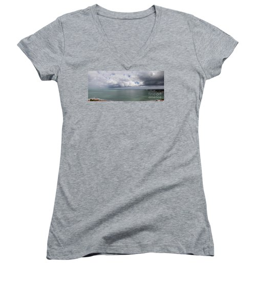 Pacific Storm Panorama Women's V-Neck (Athletic Fit)