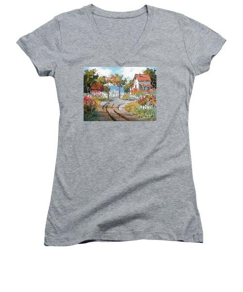 Pacific View Women's V-Neck T-Shirt