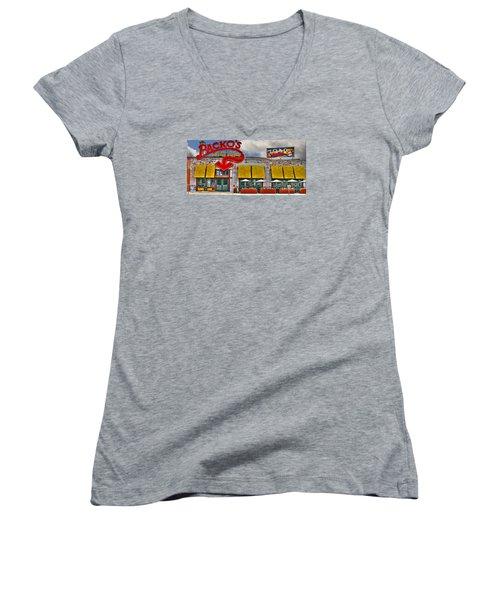 Packo's At The Park Women's V-Neck T-Shirt