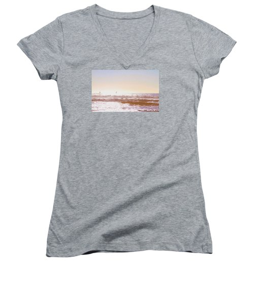 Paddleboarders Women's V-Neck (Athletic Fit)