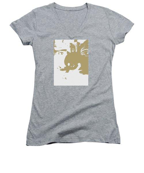 Cutie Women's V-Neck T-Shirt (Junior Cut) by Roro Rop